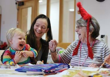 Toddlers join sheltered housing residents for Christmas…