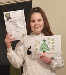 Chelsea - highly commended in Curo's Christmas card competition 2020