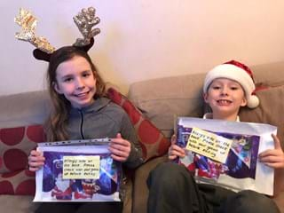 Phoebe and Tom - highly commended in Curo's Christmas card competition 2020