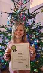 Kassady - winner of Curo's Christmas card competition 2020